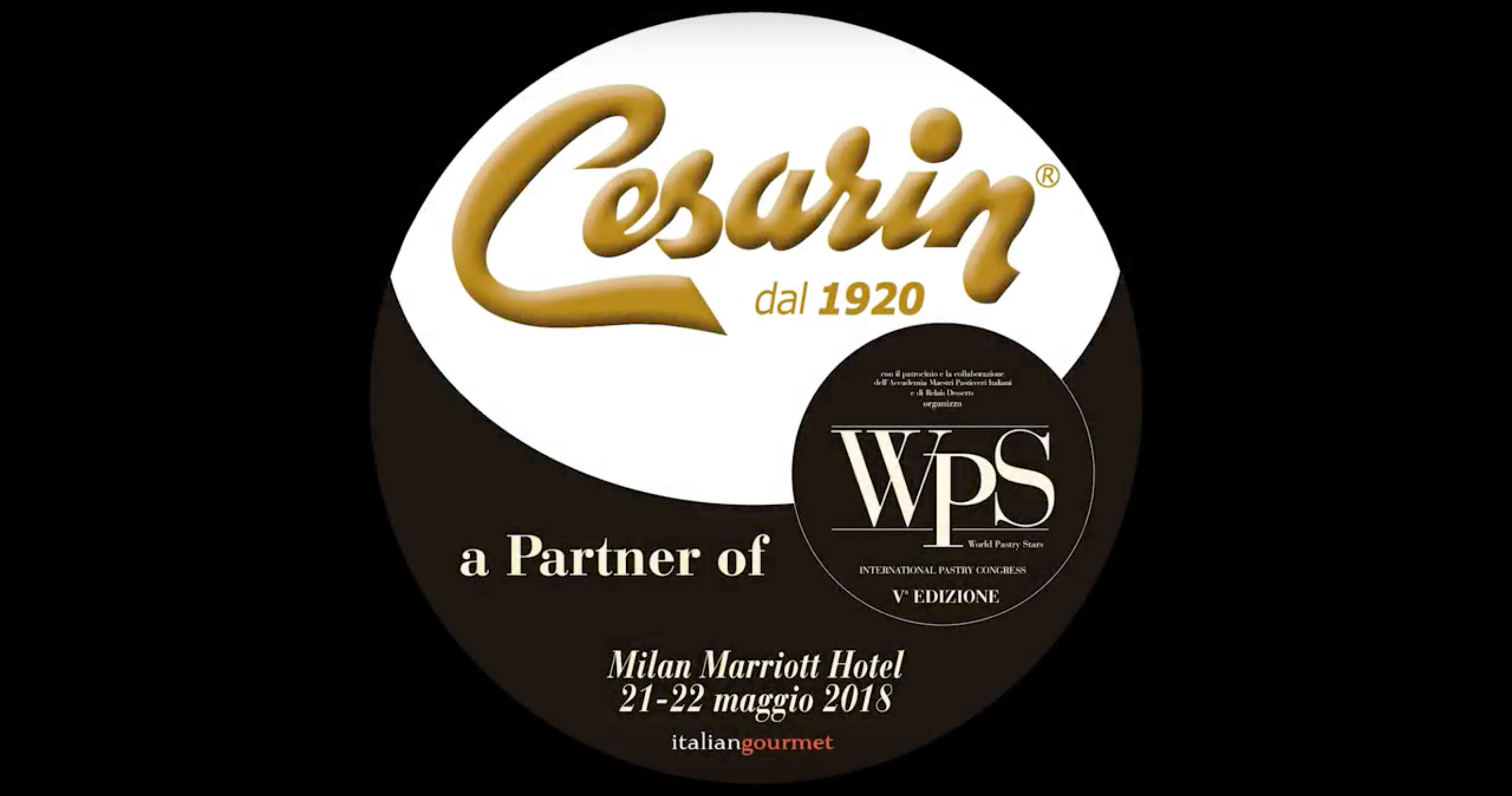 Cesarin partner Gold per World Pastry Star 2018