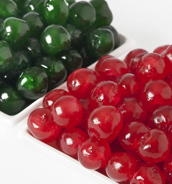 Candied Cherry red and green for industry of pastry Cesarin